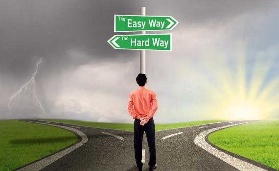 лесен и труден път